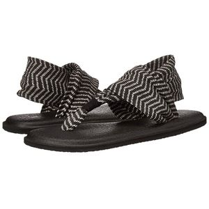 Sanuk Yoga Sling 2 Gray Black Congo Yoga Sandals